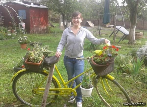 Virágoskert a csodabiciklin